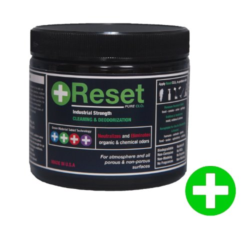 Reset Pure Chlorine Dioxide LIQUID: Safely Remove Organic & Chemical Odor From Any Surface. 5 Green Tablets. Standard Strength (M-Level) (Chlorine Dioxide Liquid compare prices)
