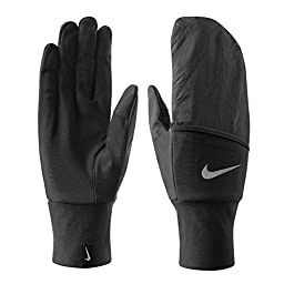 Nike Vapor Convertible Mitten/Glove (Black, Large)