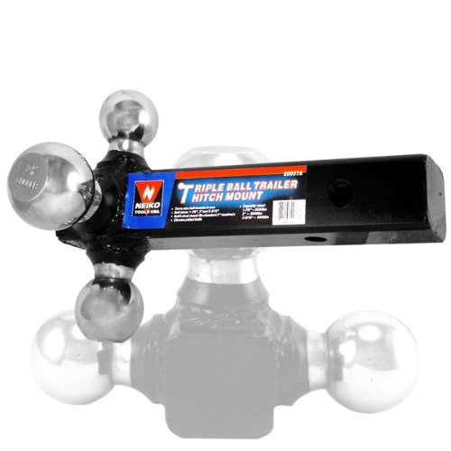 Lowest Price! Neiko Heavy-Duty 3-in-1 Triple Trailer Hitch and Ball Mount with 6000 LB Capacity