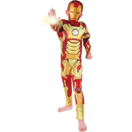 Marvel Iron Man 3 Kostüm. Medium 6-8 Jahre. Gepolsterte Deluxe-Overall und Maske.
