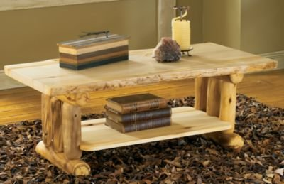 Mountain Woods Furniture Aspen Log Coffee Table - Natural