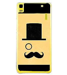 Printvisa Moustache Uncle 2D Hard Polycarbonate Designer Back Case Cover For Lenovo K3 Note :: Lenovo A7000 Turbo