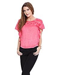 Red Hand Embroidery Top S