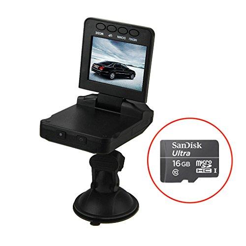 """BXT® 2.5""""HD Auto Kamera 120°Weitwinkel Auto DVR Recorder Car Camcorder Video Rekorder Dashcam Blackbox,Nachtsicht mit 6 Infrarot-LED, Automatische Loop-Zyklus Aufnahme"""