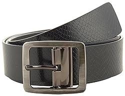 Jackblack Men's Leather Belt (SEVP018, Black, 30)