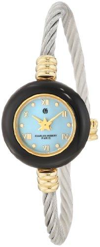 Charles-Hubert, Paris Women's 6778 Premium Collection Gold-Plated Brass Case with 7 Interchangeable Bezels Watch