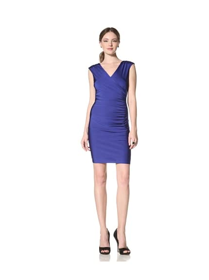 Marc New York Women's Surplice Zip Dress