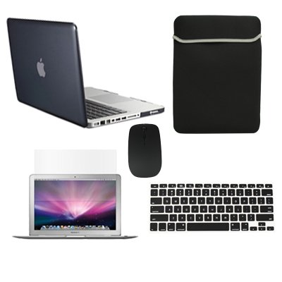 "Topcase Macbook Pro 15"" 15-Inch A1398 With Retina Display 5 In 1 Bundle - Crystal Hard Case Cover + Matching Color Soft Sleeve Bag +Wireless Mouse + Silicone Keyboard Cover + Lcd Hd Clear Screen Protector (Latest Version / No Dvd Drive / Release June 2012"