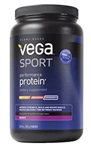 Vega Sport Performance Protein, 29 oz Tub, Berry (FFP)