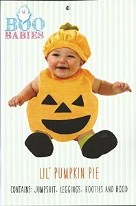 Boo Babies Halloween Costume Orange Pumpkin Sz 9-18 Months 4 Pieces