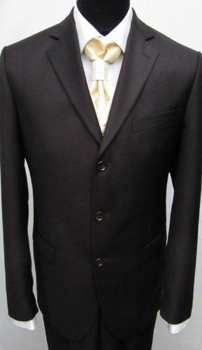 MUGA mens Suit, two pieces, Brown, size 54L (EU 122)