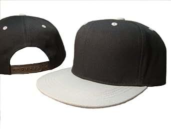 black grey vintage style snap back flat bill adjustable