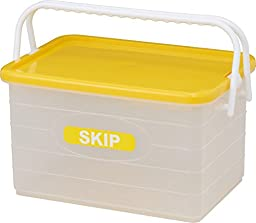 Izumikasei Japanese-made colorful skip container L type yellow 9243Y (width 47 ~ back 31.7 ~ height 26cm)