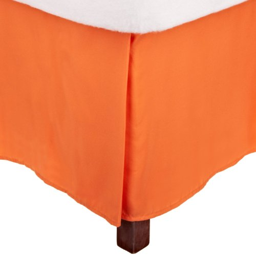 Impressions 1500 Series Wrinkle Resistant Pleated King Bed Skirt Solid, Orange front-583481