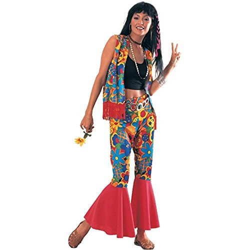 Flower Power 60s Hippy Adult Costume - Standard