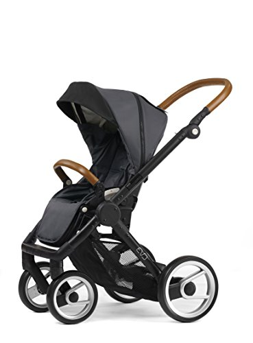 Mutsy Evo Urban Nomad Stroller, Black Chassis, Dark Grey