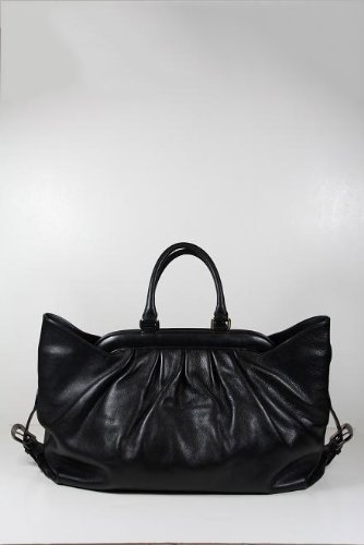Fendi Handbags Large Black Leather Tote 8BN191