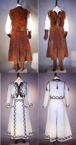 Misses Western Split Skirt, Jacket, Vest and