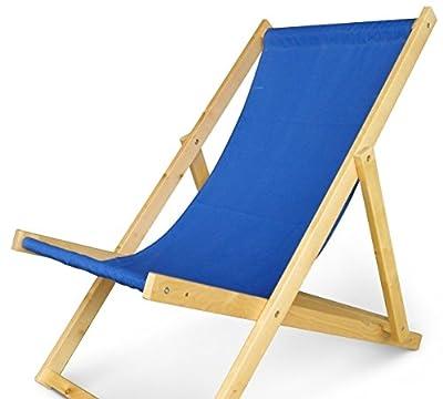 Holz Sonnenliege Strandliege Liegestuhl aus Holz Gartenliege N/1