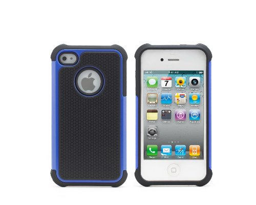ihomegadget Shock Proof 3 in 1CASE COVER FITS APPLE IPHONE 5 + SCREEN PROTECTOR  &  STYLUS Blue