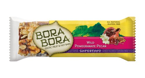 Bora Bora Wild Pomegranate Pecan Superfood Bar, 1.4-Ounce Bars (Pack of 12)