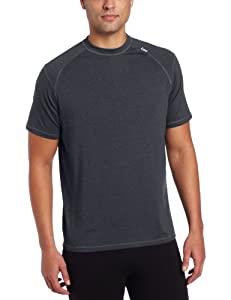 Tasc Performance Men's Carrollton Performance Running Fitness Crew Neck Tee Shirt, Gunmetal, Large