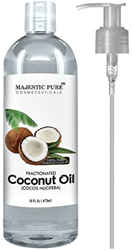 Majestic Pure Fractionated Coconut Oil, 16 Oz (Mixed Fraction compare prices)