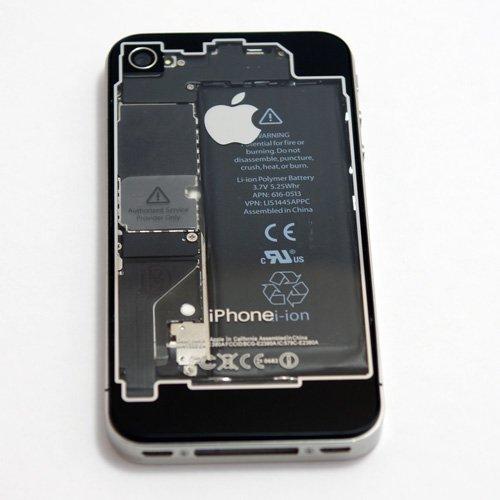 iPhone 4 透明&ブラックバックプレート