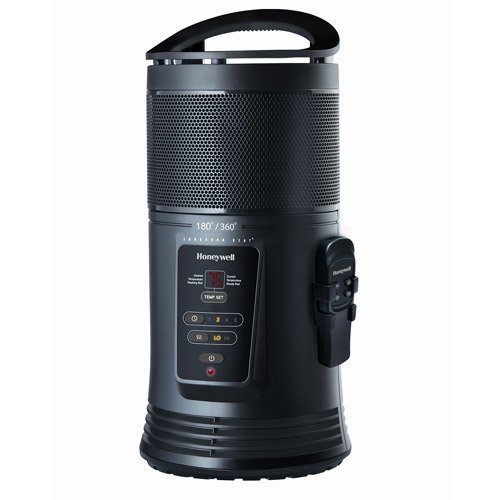 Honeywell Ceramic Surround Heat Whole Room Heater w/ Remote Control - Black, HZ-445R