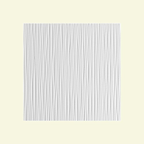 Fasade - Ripple Vertical Matte White Decorative Wall Panel - Fast and Easy Installation (12
