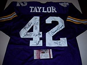 Jim Taylor Autographed Jersey - Lsu Tigers geaux Tigers packers hof Jsa coa -... by Sports+Memorabilia