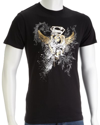 DC Comics Superman Bling Foil Print Men's T-Shirt Black DC013BXXL XX-Large