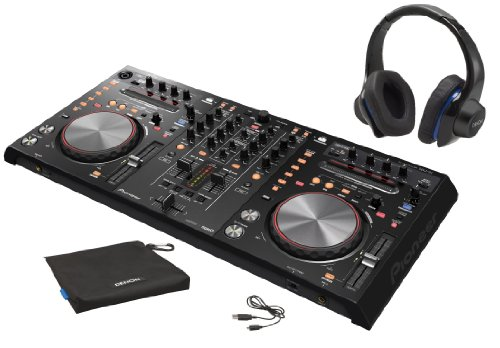 Pioneer Ddj-S1 Dj Software Controller Bundle With Denon Urban Raver High Performance Over-Ear Headphones