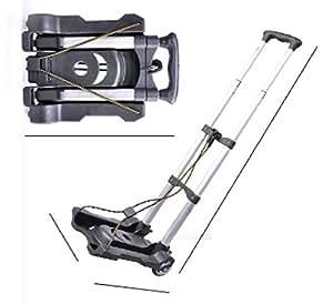 K'Z 折りたたみ 軽量 キャリーカート 耐荷重 50Kg 固定ロープ 付き スーパーワイド (0059-3)