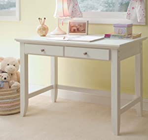 Amazon Com Home Styles 5530 16 Naples Student Desk White