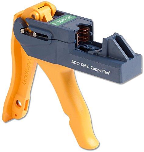 Fluke Networks Jr-Adc-2 Jackrapid Punch Down Termination Tool For Adc C6A Copperten® Utp Rj45 Jack And The C6 Truenet® Km8 Utp Rj45