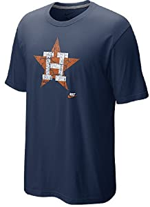 Houston Astros Cooperstown CP Dugout Logo Baseball T Shirt by Nike by Nike