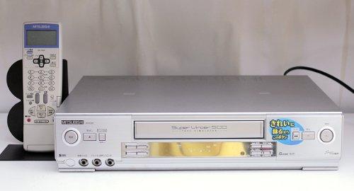 三菱|S-VHSビデオデッキ HV-E500|テープ消去搭載 ダビング用途にも!