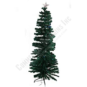 #!Cheap 7 Foot Christmas Tree 120 Color Changing LED Lights 220 Fiberoptic Strands