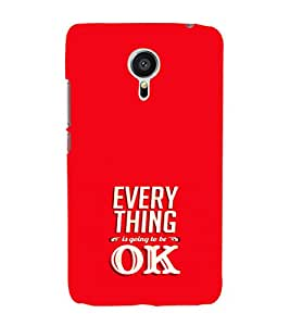 EPICCASE Will be ok Mobile Back Case Cover For Meizu MX 5 (Designer Case)