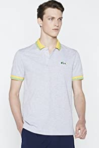 Men's Rio Pique Brazilian Croc Polo With Contrast Rib