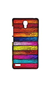 Multicolor Wooden Pattern Mobile Back Case/Cover For XIAOMI RED MI- NOTE (4G)