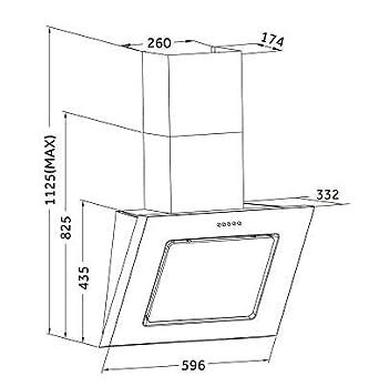 respekta ch 22020 ix edelstahl schr ghaube 60 cm dc381. Black Bedroom Furniture Sets. Home Design Ideas