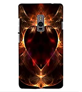 ColourCraft Lovely Heart Design Back Case Cover for OnePlus Two