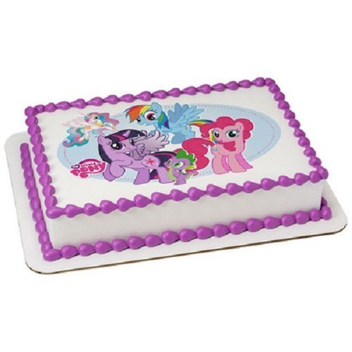 Whimsical Practicality My Little Pony Edible Icing Image  Cake Topper - 1