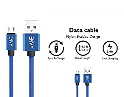 ENVY 1mtr Micro USB Cable 2.4 Amp: Premium, Tangle free, Fast Charging & High Speed Data Sync cable