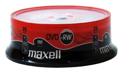 Maxell DVD-RW 4.7GB - Confezione da 25