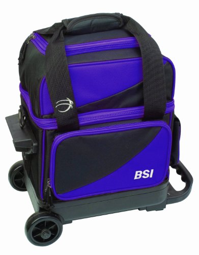 BSI Single Ball Roller Bowling Bag, Black/Purple