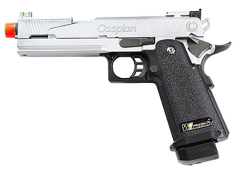 TSD Tactical WE 1911 Gas Blowback Airsoft Pistol with Caspian Trademark (Raced