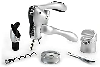Metrokane Rabbit 6-Piece Wine Tool Kit, Silver